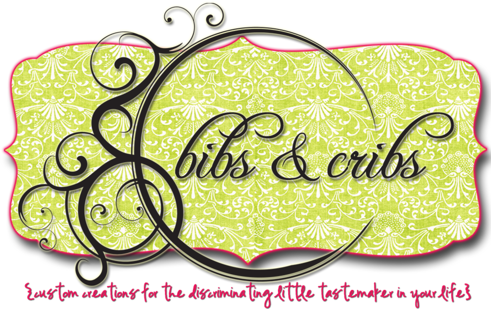 bibs &amp; cribs {custom creations for the discriminating little tastemaker in your life}